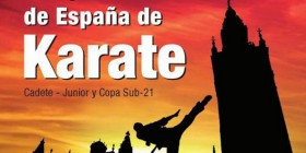 A detail of the poster for the Spanish Karate Championships - cadets, junior and under21-