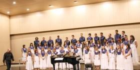 El Orfeón Preuniversitario de Málaga durante uno de sus conciertos