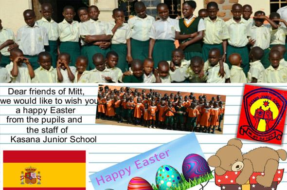 Detalle de la postal que nos envían desde el St. Joseph's School