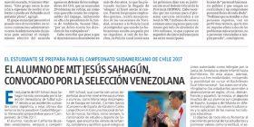 EL ALUMNO JESÚS SAHAGÚN CONVOCADO POR LA SELECCIÓN VENEZOLANA - MÁLAGA HOY